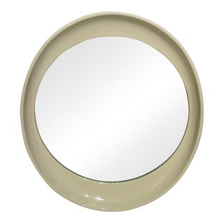 Elliptical Mirror in Cream Color Resin Italy Late 20th Century For Sale