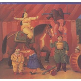 """Fernando Botero Gente Del Circo 26.75"""" X 27.75"""" Poster 2009 For Sale"""