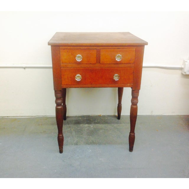 3-Drawer Spindle-Leg Side Table - Image 2 of 5