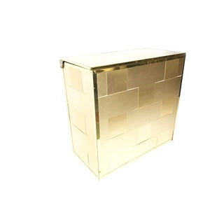 1950's Mid Century Copper and Gold Toned Metal Hamper For Sale