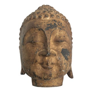 Stone Carved Buddha Head For Sale