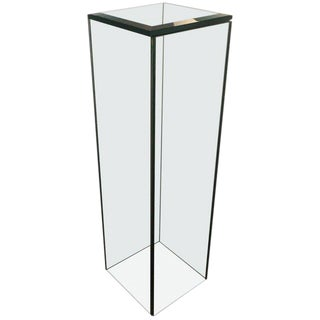 Mid-Century Modern Glass Pedestal For Sale