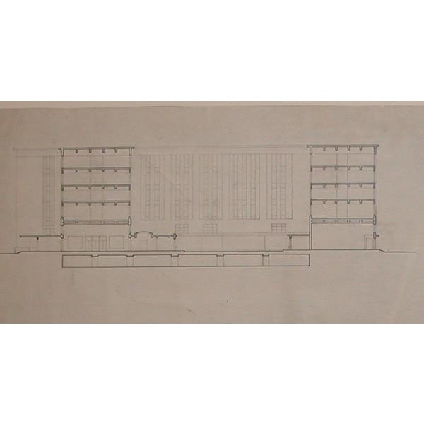 Atelier Garnier Grand-Scaled French Architectural Drawing For Sale - Image 4 of 6