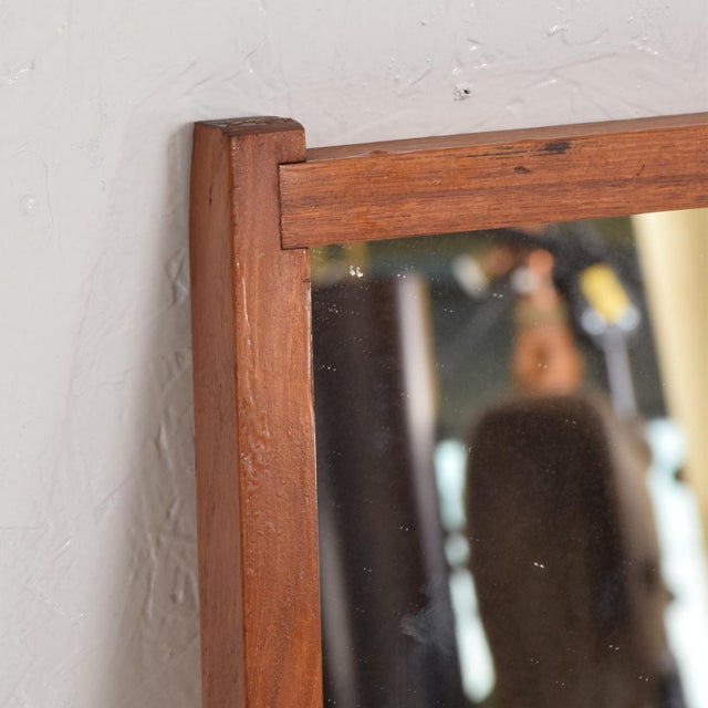 Wood Mid-Century Danish Modern Teak Mirror For Sale - Image 7 of 9