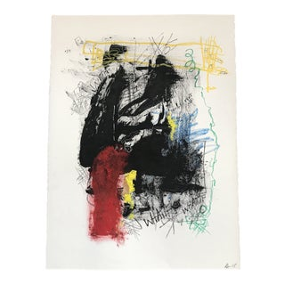 Walking Man Abstract Painting For Sale