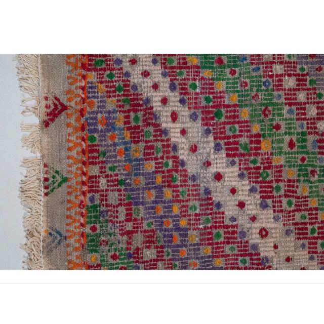 Vintage Flat Weave Turkish Kilim - 6′4″ × 9′11″ - Image 3 of 7