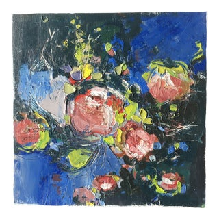 Contemporary Roses Miniature Oil Painting