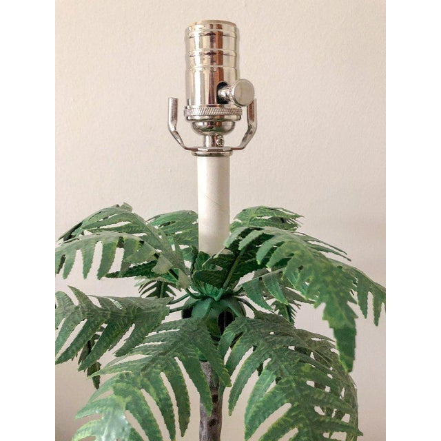 Chippendale Final Markdown Tole Lamps by Maison Bagues, Pair For Sale - Image 3 of 5