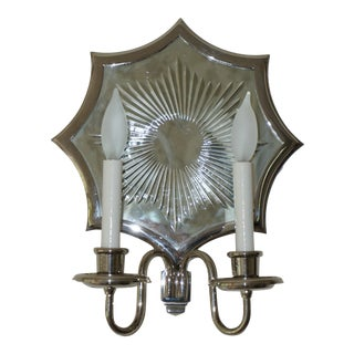Starburst Venetian Style 2-Arm Mirrored Wall Light/Sconces For Sale