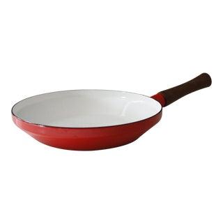 Dansk Kobenstyle Red Enamel Skillet Frying Pan Jens Quistgaard For Sale