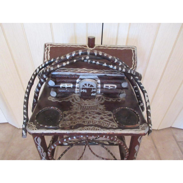 Tramp Art Twig Smoking Table For Sale In Denver - Image 6 of 11