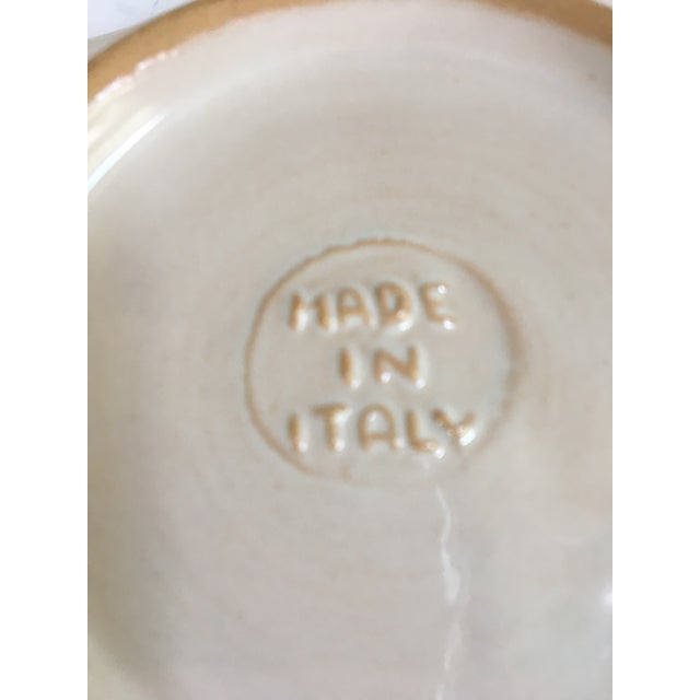 Ceramic Vintage Mid-Century Italian Pottery Tiger Bowl For Sale - Image 7 of 9