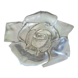 Aluma Rose Pattern Tray For Sale