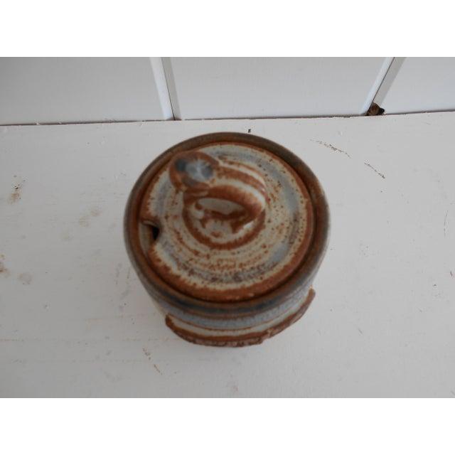 Rustic Pottery Honey Pot - Image 6 of 8