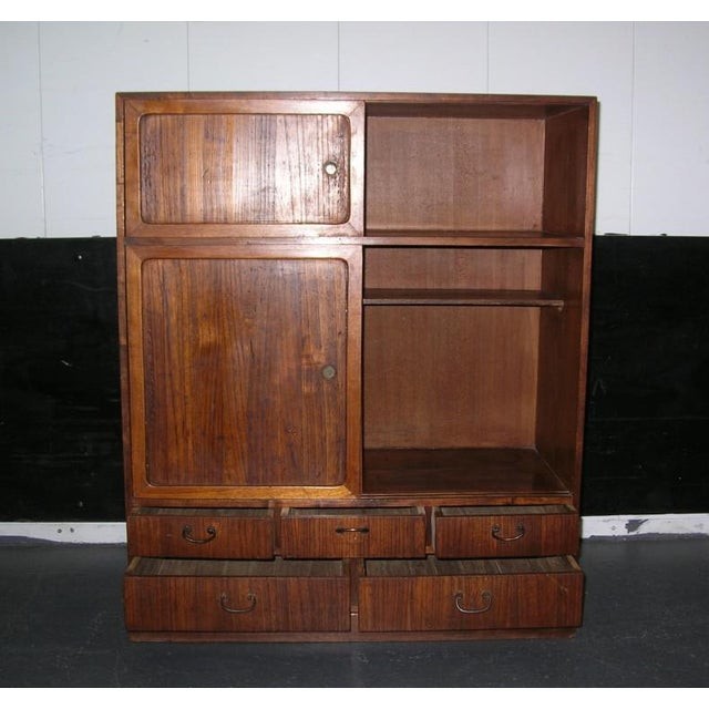 Reserved 19th Century Small Japanese Tansu Cabinet For Sale - Image 9 of 12