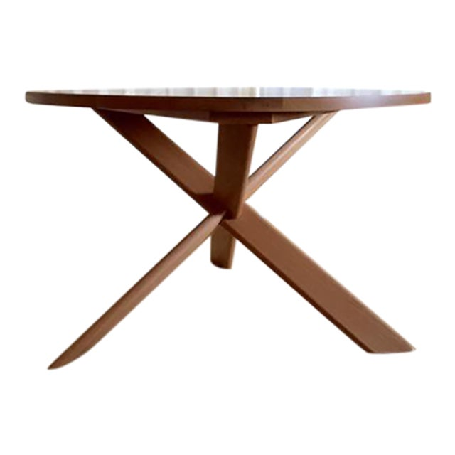 Round Oak Dining Table - Image 1 of 4