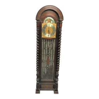 Revere Telechron 9 Tube Mahogany Grandfather Clock For Sale