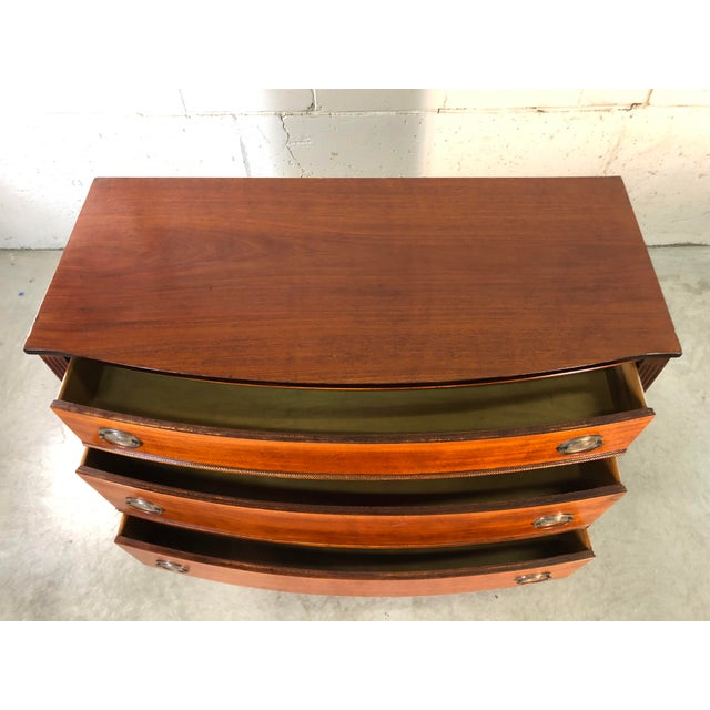 1950s Vintage Mahogany Bow Front Low Dresser For Sale - Image 5 of 11