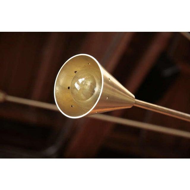 Brass Brass Sputnik Chandelier with Twenty Arms For Sale - Image 7 of 9