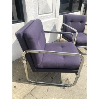 1970s Vintage Italian Chrome Tufted Lounge Chairs - 1 Available Preview