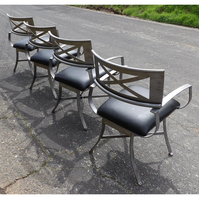 "Vintage Mid Century Arthur Umanoff for Shaver Howard ""X"" Chairs- Set of 4 For Sale - Image 9 of 13"