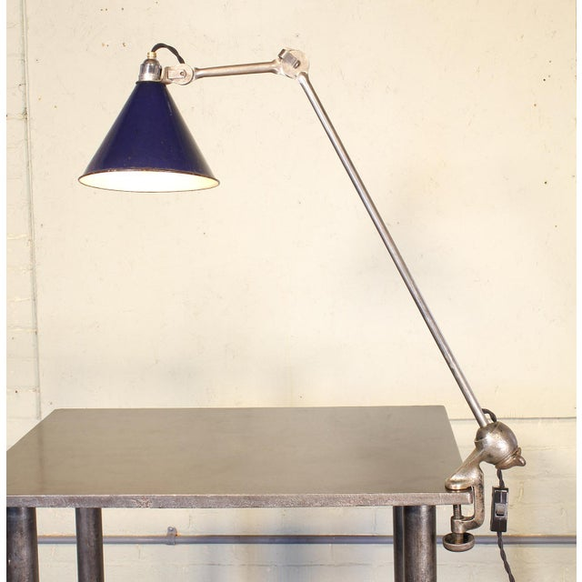 1920s Bernard-Albin Gras No. 201 Clamp-On Lamp For Sale - Image 5 of 11