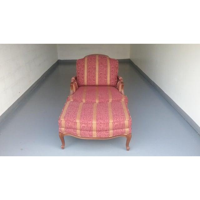 Ethan Allen French Bergere Chair & Ottoman | Chairish