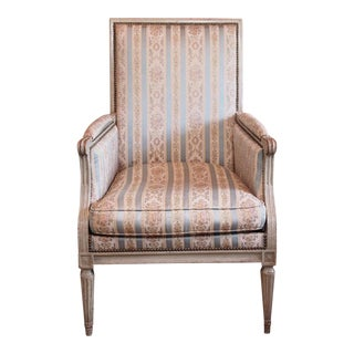 Louis XVI French Painted Bergere For Sale