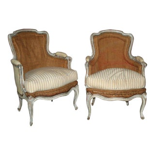 Pair of Louis XV Style Armchairs For Sale