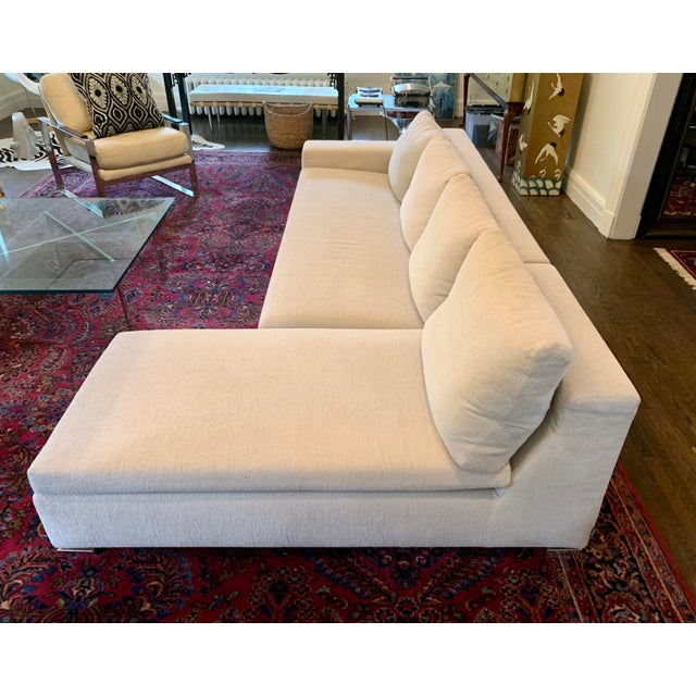 2000 - 2009 Italian Minotti Sectional Sofa With Chaise For Sale - Image 5 of 12