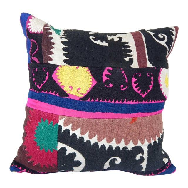 """Vintage Suzani Cushion Cover 20"""" X 20"""" For Sale"""