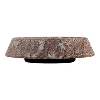 """Large """"Plata"""" Red Bilbao Limestone Centerpiece, G. Cacciatori for Up & Up, 1970s For Sale"""