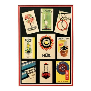 1920s Original British Art Deco Ads - Expansion, Acceleration + Others For Sale