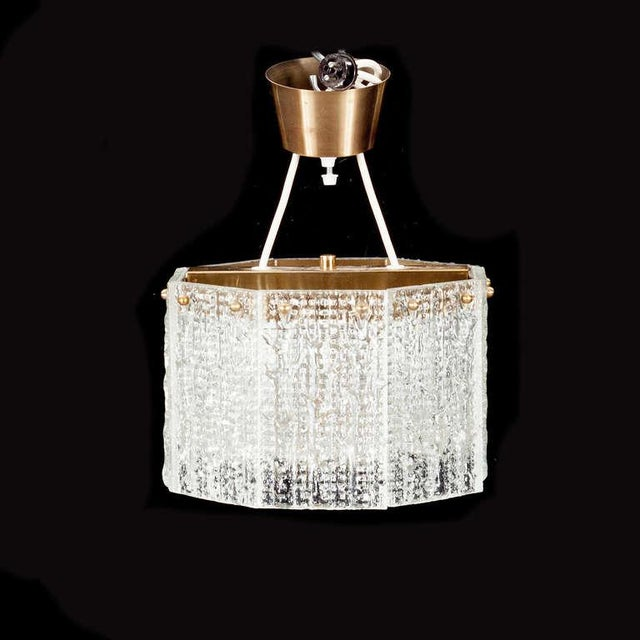Mid-Century Modern Pendant by Carl Fagerlund for Orrefors For Sale - Image 3 of 4