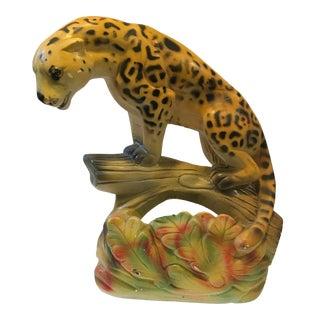 Puccini Art Novelty Co. Chalkware Leopard TV Lamp