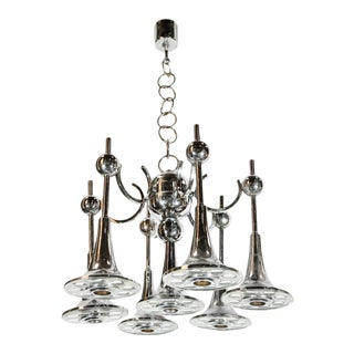 Italian Trumpets Chandelier by Sciolari For Sale