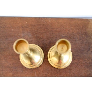 Brass Candle Holders W/ Faux Bamboo Motif Preview