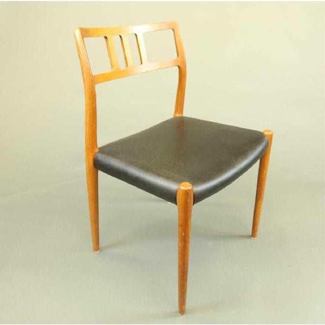 Danish Modern Set of Four Møller Dining Chairs For Sale - Image 3 of 4
