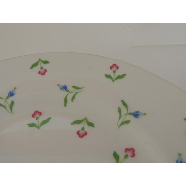 Late 20th Century Royal Victoria English White and Pink Bone China Dessert Plate For Sale - Image 5 of 6