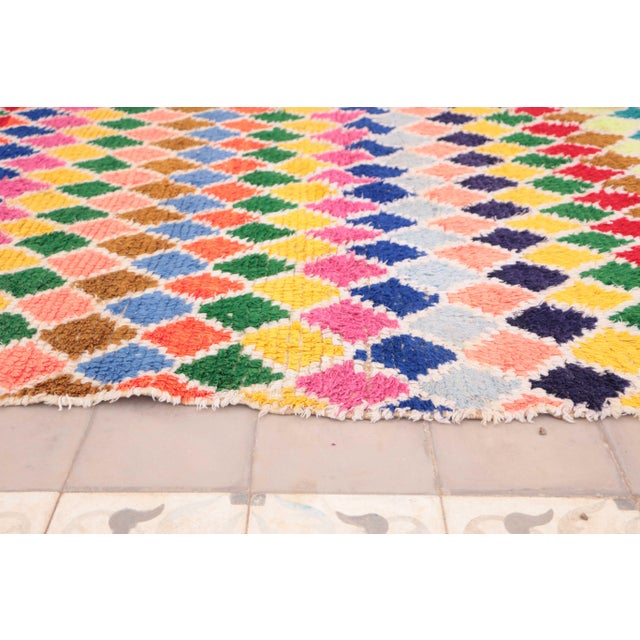 """Contemporary Azilal Vintage Moroccan Rug - 4'8"""" x 6'2"""" For Sale - Image 3 of 4"""