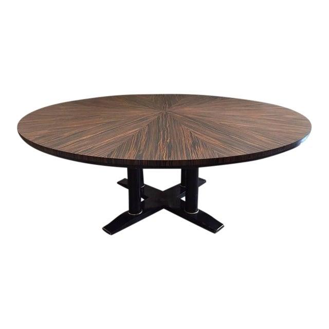 Large Italian Zebra Wood Center Table For Sale