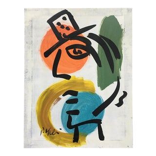 Original Peter Keil Abstract Painting on Canvas For Sale