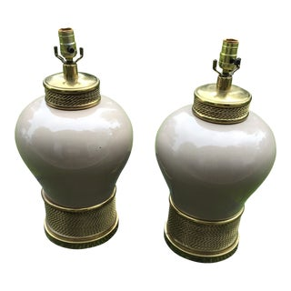 Modern Urn Ginger Lamps - a Pair For Sale