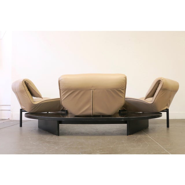 Tan Leather Veranda 3 Sofa by Vico Magistretti for Cassina For Sale - Image 8 of 13