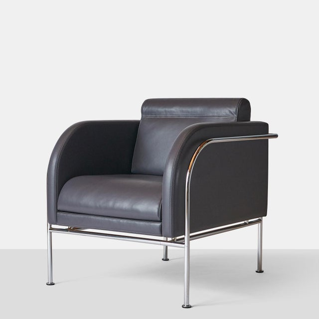 Modern Pair of Lounge Chairs by Friis & Moltke For Sale - Image 3 of 8