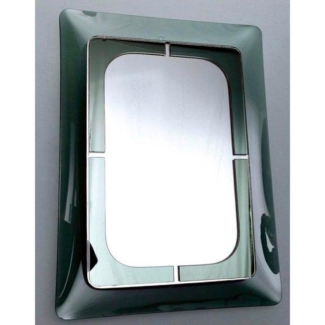 Italian Mid Century Fontana D'Arte Green Frame Wall Mirror - Image 6 of 6