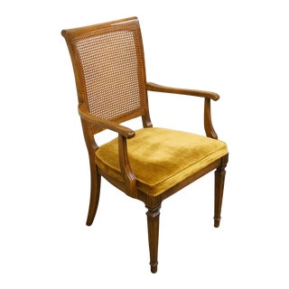 Late 20th Century Vintage Ethan Allen Cane Back Dining Chair For Sale
