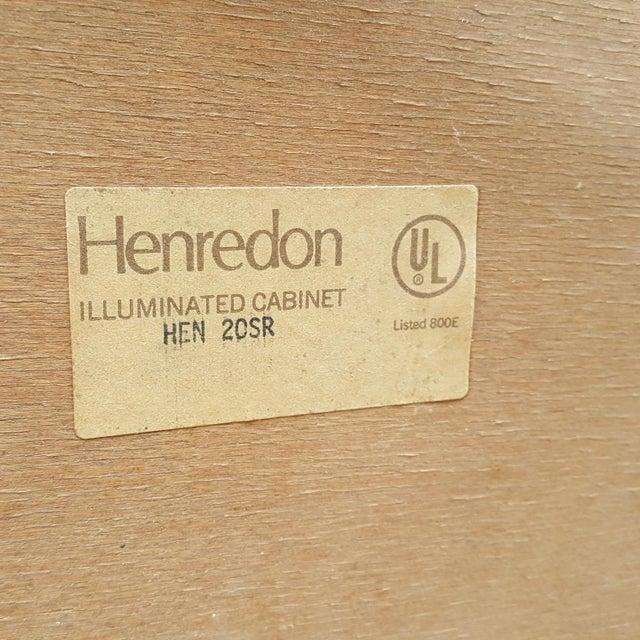 Henredon Campaign Illuminated Cabinets - Set of 3 - Image 10 of 11