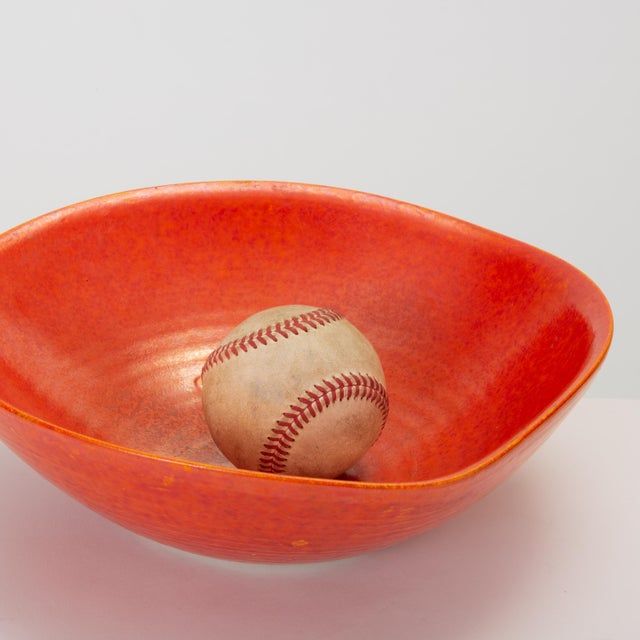 Red Glazed Studio Pottery Bowl For Sale - Image 10 of 12