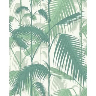 Cole & Son Palm Jungle Wallpaper Roll - Forest Gre/W For Sale